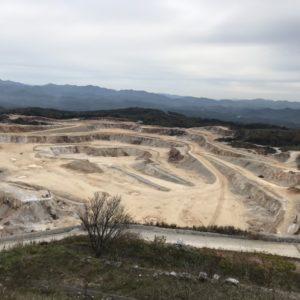 鉱山の風景