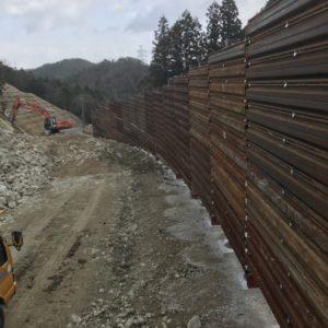 防護柵完成